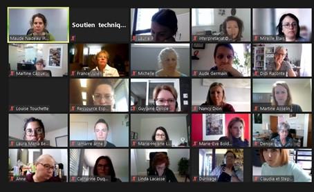 Les participants en ligne